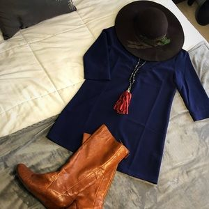 NWT Tobi Navy Blue Tunic Dress